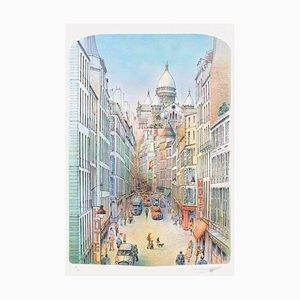 Paris - La rue Blanche et le Sacré-Coeur di Rolf Rafflewski