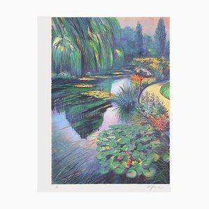 Giverny - the Nympheas Basin at Monet von Rolf Rafflewski