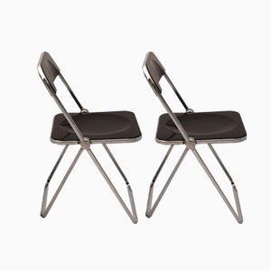 Italian Plia Folding Chairs by Gian Carlo Piretti for Anonima Castelli, Set of 2