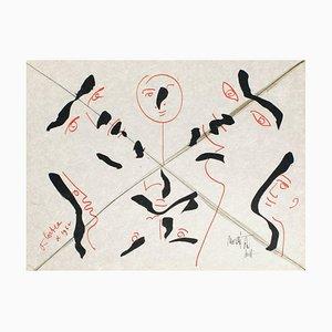 The Age of Aquarius: Multiple Faces by Jean Cocteau