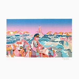 Bretagne - Manoeuvres en rade de Brest par Charles Lapicque