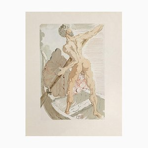 Divine Comedy Hell 03 - Charon and the Passage of Acheron von Salvador Dali