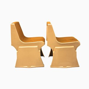 Chaises d'Appoint Empilables Vintage par Günther Domenig, 1968, Set de 2