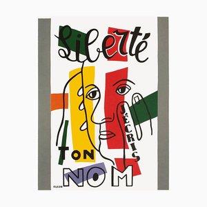 Liberté J'Écris Ton Nom d'après Fernand Léger