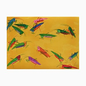 Grasshoppers by Ting Walasse