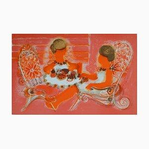 Femmes Prenant le Thé par Frédéric Menguy, 1969