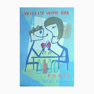 Affiche Xavier Mariscal, Willi's Wine Bar, 1998