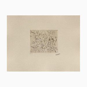 105: Three Little Girls von Jules Pascin