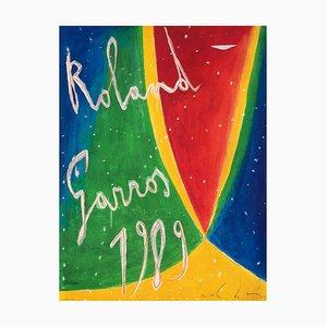 Affiche Officielle de Roland-Garros Nicola de Maria, 1989
