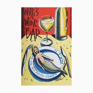 Affiche Jacques Loustal, Willi's Wine Bar, 2004
