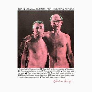 The X Commandments pour G & G par Gilbert & George