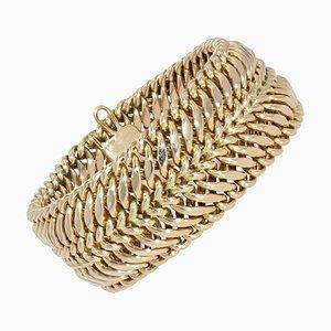 14 Karat Yellow Gold Curb Bracelet, 1950s