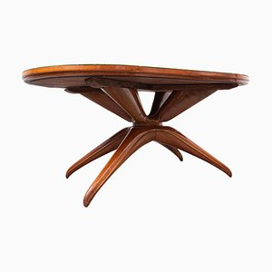 Mid-Century Wooden Italian Dining Table by Guglielmo Ulrich, 1950s