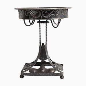 20th Century Swedish Round Art Nouveau Iron Table
