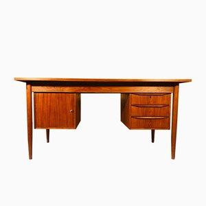 Vintage Danish Executive Teak Desk, 1960s