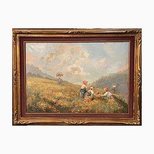 Oil Painting on Canvas, De Carlis, 20th Century