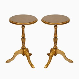 Victorian Side Tables or Wine Tabes on Tripod Legs, Set of 2
