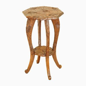 Hand-Carved Occasional Side Table from Liberty's, London, 1905