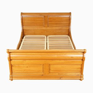 Vintage Oak Double Sleigh Bed Frame from Waring & Gillow