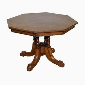 Victorian Octagonal Walnut Side Table