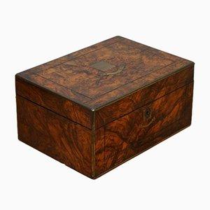 Vintage Burr Walnut Sewing Storage Boxes