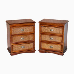 Hardwood Chests of Drawers, Set of 2
