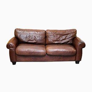 Madison 3-Sitzer Sofa aus braunem Leder von John Lewis