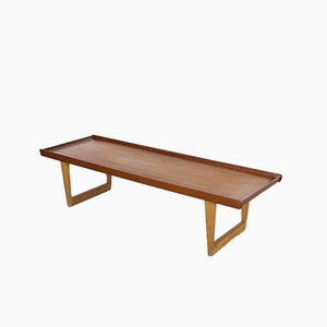 Vintage 5251 Teak and Oak Coffee Table by Børge Mogensen for Fredericia