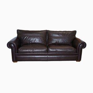 Garrick 3-Sitzer Sofa aus braunem Leder von Duresta