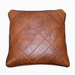 Coussins Moyens en Cuir Cordoba et Tissu de Tetrad, Set de 2