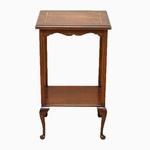 Viktorianischer Intarsie Rechteckiger Beistell- oder Weintisch