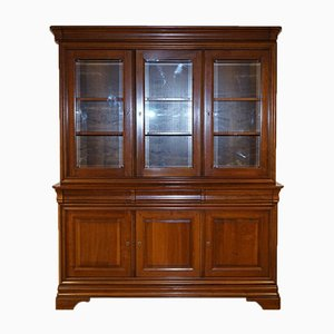 Large French Cherrywood Display Cabinet