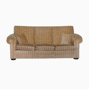 3-Seater Waldorf Sofa in Gold Checkered Fabric from Duresta