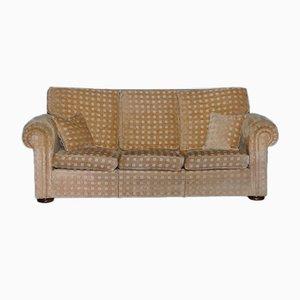 3-Sitzer Waldorf Sofa mit gold kariertem Stoff von Duresta