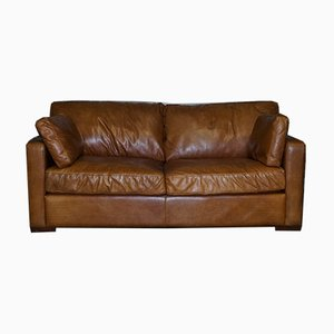 Brown Leather 3-Seater Sofa from House of Fraser
