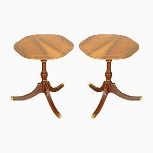 Vintage Flamed Mahogany Side Tables, Set of 2