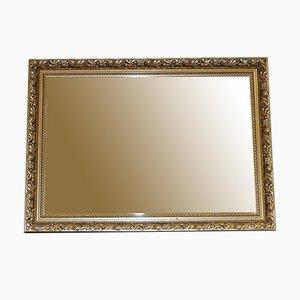 Vintage Gold Ornate Rechteckiger Wandbehang Abgeschrägter Spiegel