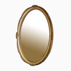 Vintage Oval Gold Wall Mirror