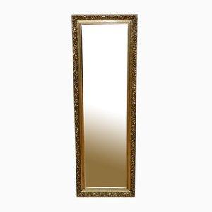 Long Vintage Gold Bevelled Mirror