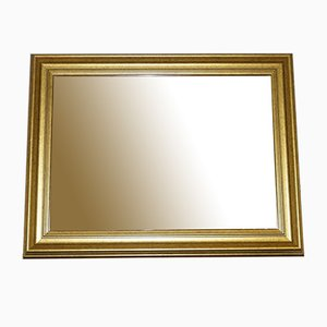 Rechteckiger Wandspiegel aus Holz & Gold