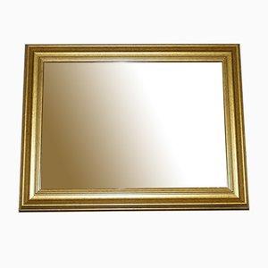 Rectangular Wood & Gold Wall Mirror
