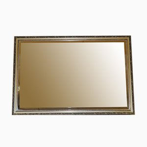 Abgeschrägter Vintage Spiegel in Gold & Silber