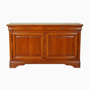 Cherrywood Sideboard Cabinet with Two Doors and Shelf