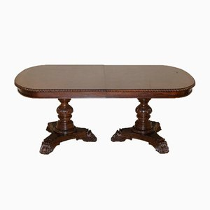 Hardwood Twin Pedestal Extendable Dining Table from Bernhardt