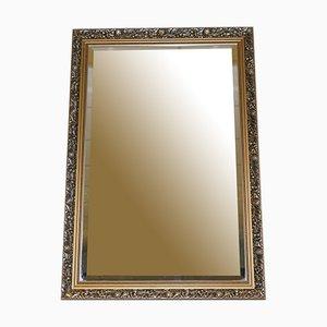 Abgeschrägter Vintage Spiegel in Silber & Gold