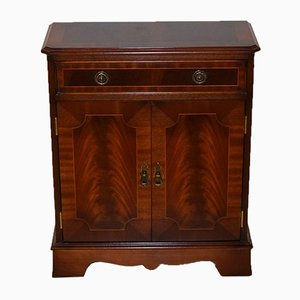 Vintage Flamed Hardwood Cabinet with Single Drawer from Bevan Funnell