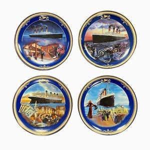 Piatti da collezione Titanic vintage di Bradford Exchange, set di 4