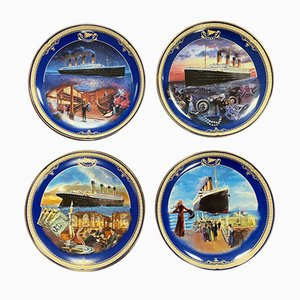 Vintage Titanic Collectable Plates from Bradford Exchange, Set of 4