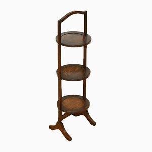 Portapiante pieghevole vintage in legno