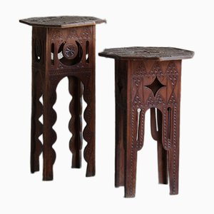 Syrian Side Tables, Set of 2